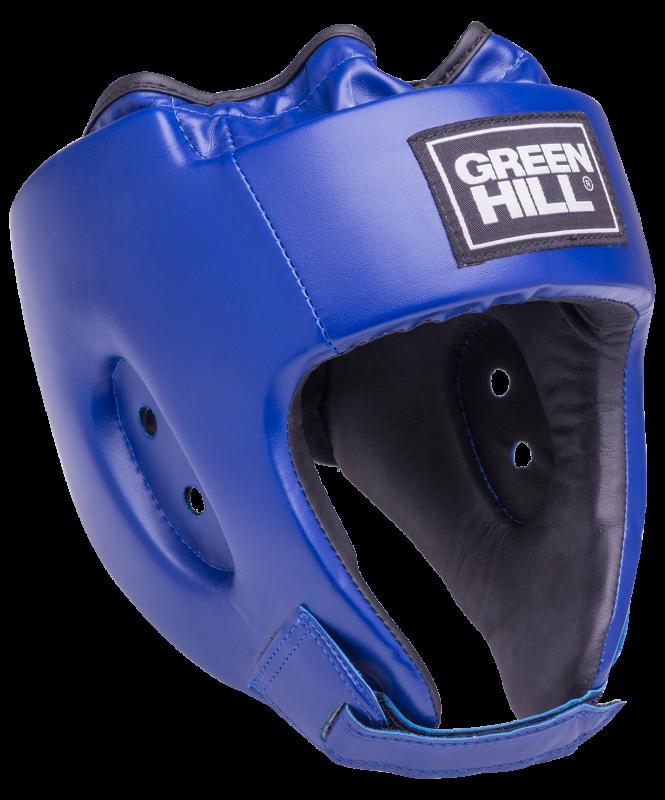 Шлем открытый Alfa HGA-4014, кожзам, синий, Green Hill