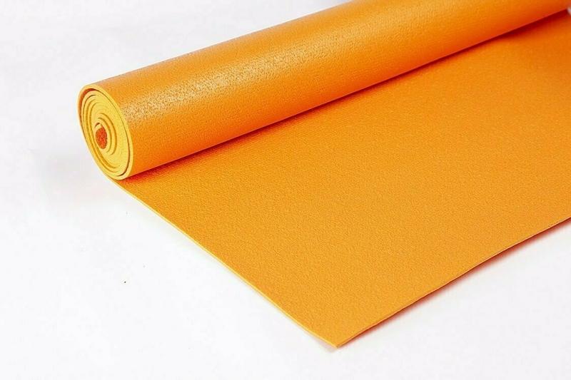 Коврик для йоги Инь Янь Студио RamaYoga оранжевый, 183x60x0.45 см, 1.4 кг