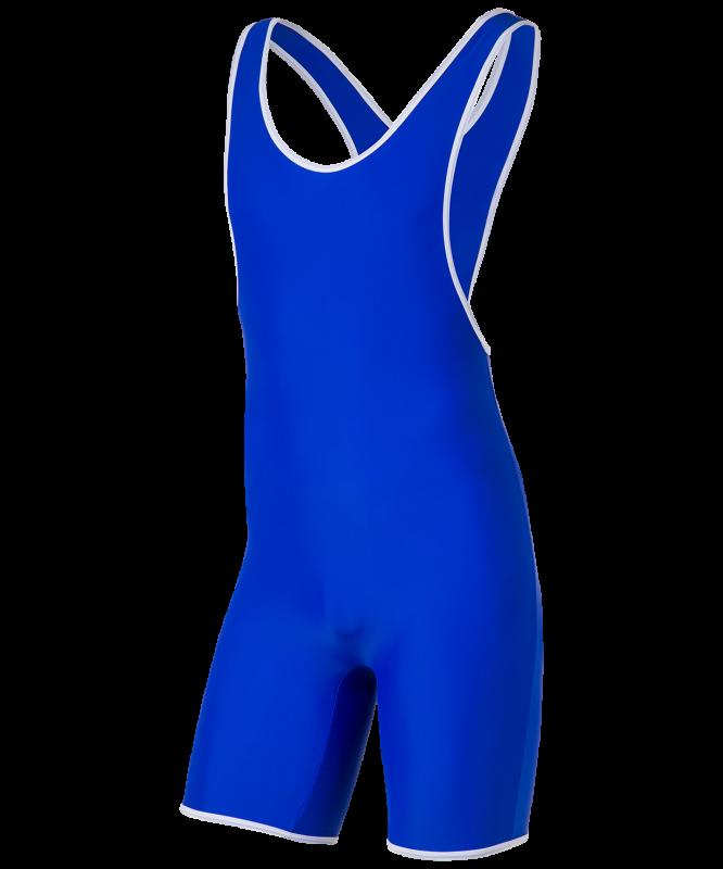 Трико борцовское 6917, 44-54, синий, BaseFit