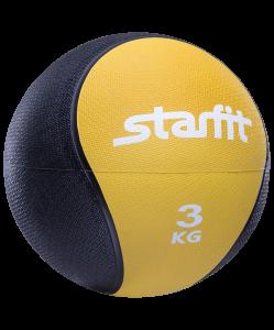 Медбол PRO GB-702, 3 кг, желтый, Starfit