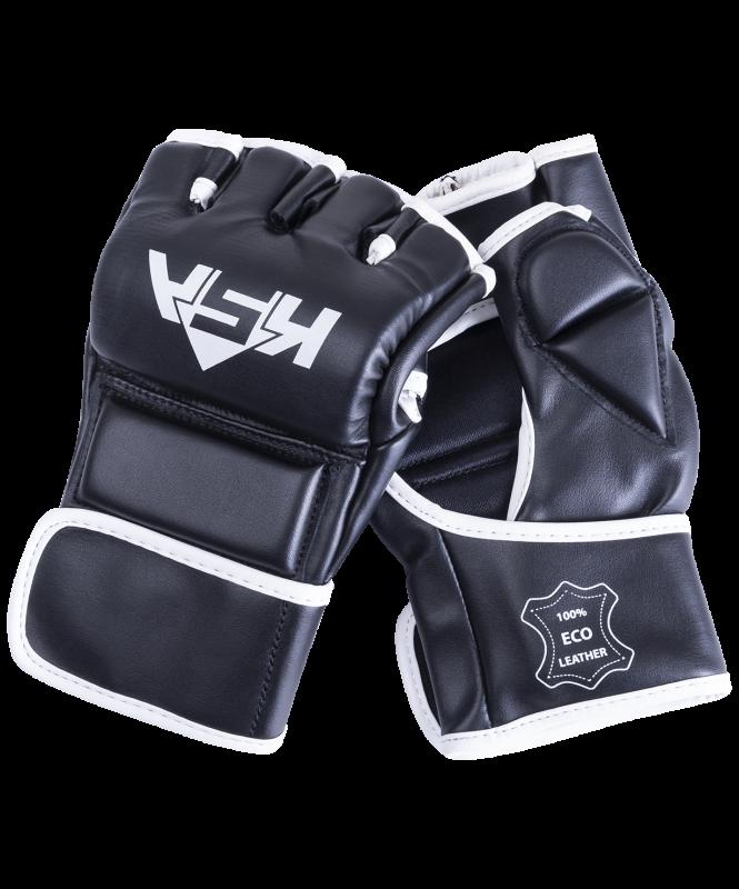 Перчатки для MMA Wasp Black, к/з, L, KSA