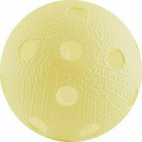 Мяч для флорбола RealStick , арт.MR-MF-Va, пластик с углубл., IFF Approved, ванильный