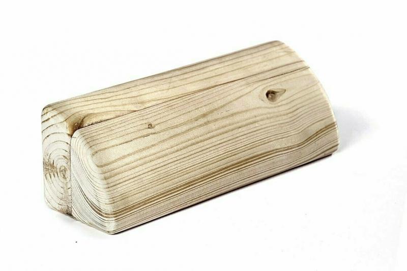 Кирпич для йоги полукруглый деревянный шлифованный RamaYoga, 23x7 см, 1 кг