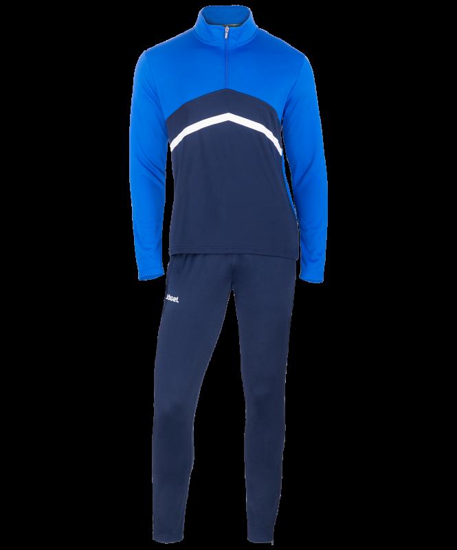 Костюм тренировочный детский JPS-4301-971, полиэстер, темно-синий/синий/белый, Jögel