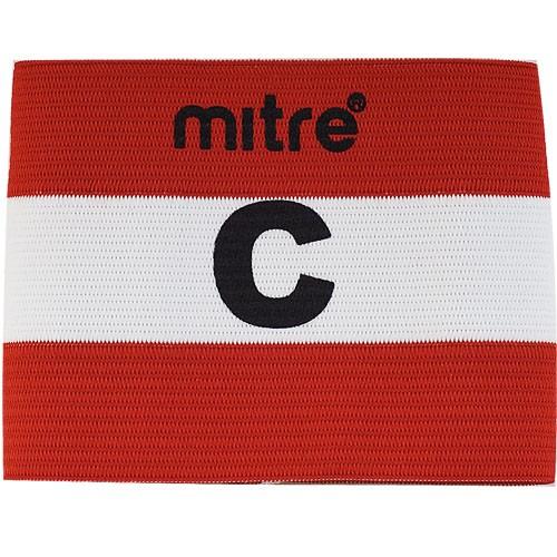 Капитанская повязка MITRE арт. A4029ARF8, 100% спандекс, безразмерная, красно-белый