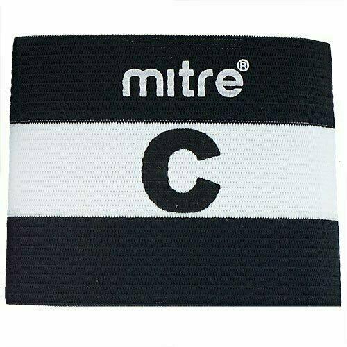Капитанская повязка MITRE арт. A4029ABJ7, 100% спандекс, безразмерная, черно-белый