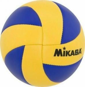 Мяч волейбольный сув. MIKASA MVA1.5 , р.1, диам. 15 см синт. кожа (ПВХ),маш.сш,сине-желтый