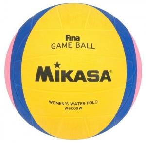 Мяч для водного поло MIKASA W6009W р.4, жен, FINA Approved, резина, вес 400-450гр, желт-сине-роз