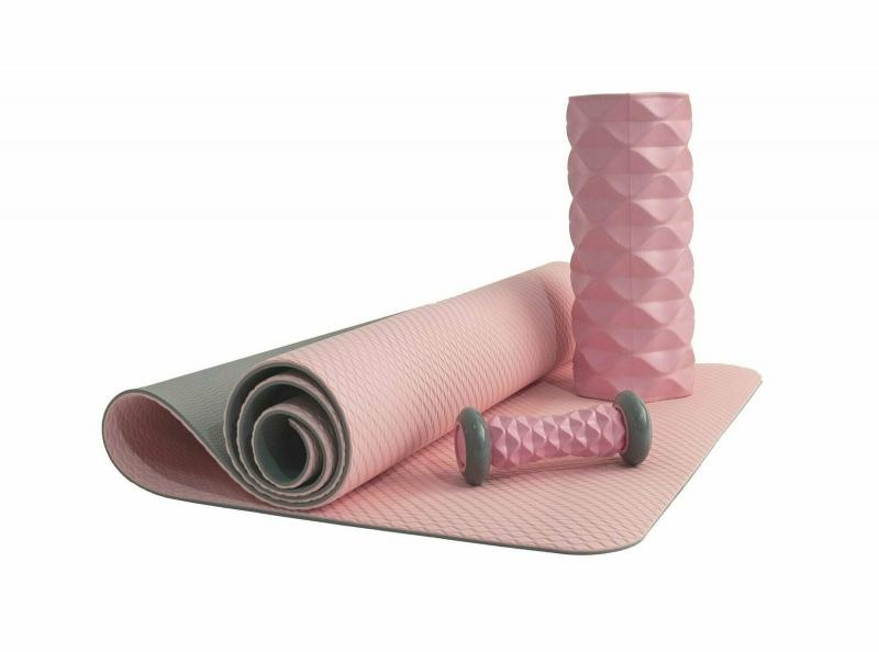 Коврик для йоги 6 мм TPE розовый IRONMASTER IRBL17107-P