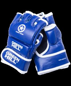 Перчатки для MMA Combat Sambo MMR-0027CS, к/з, синие, Green Hill