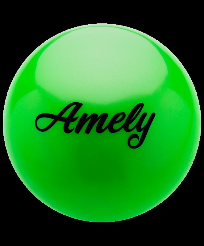 Мяч для художественной гимнастики AGB-101, 15 см, зеленый, Amely