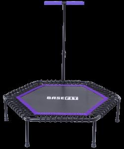 Батут TR-401 112 см с держателем, фиолетовый, BaseFit