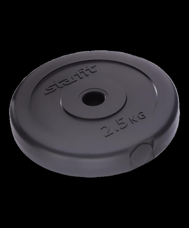 Диск пластиковый BB-203, d=26 мм, черный, 2,5 кг, Starfit