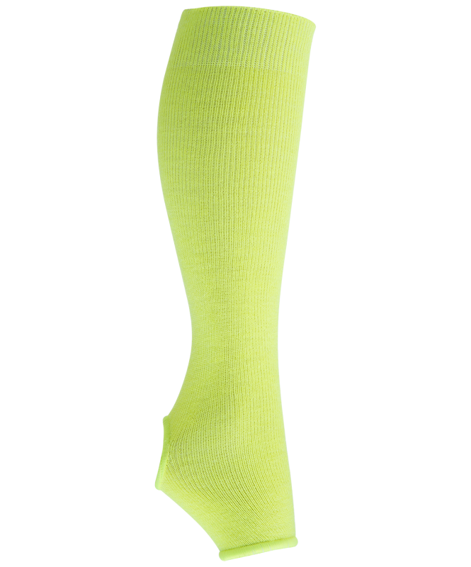 Гетры гимнастические разогревочные Stella Lime, шерсть, 40 см