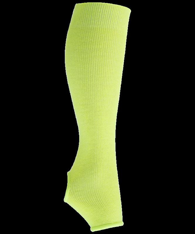 Гетры гимнастические разогревочные Stella Lime, шерсть, 40 см, Chanté
