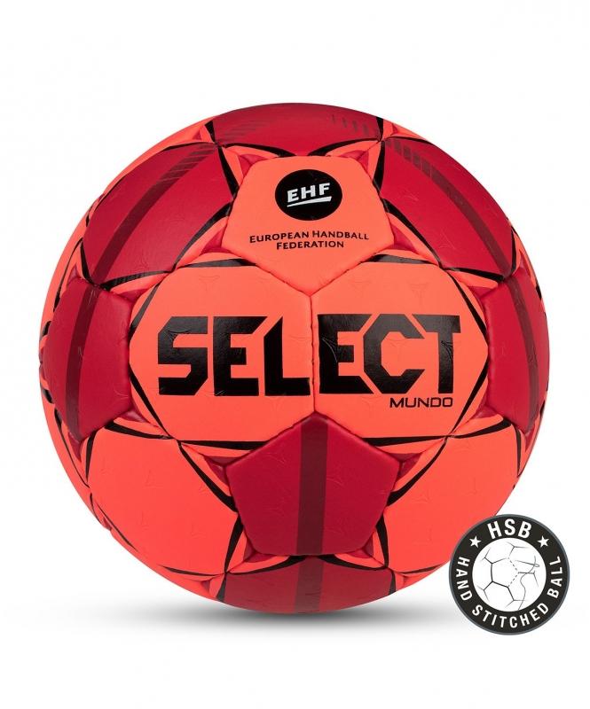 Мяч гандбольный MUNDO №3, оранж/крас/чер, Select