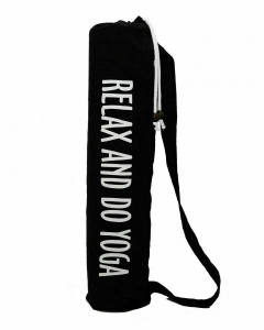Чехол для коврика Do Yoga льняной EGOyoga черный, 70 см, диам. 15 см
