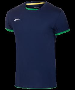 Футболка волейбольная JVT-1030-093 темно-синий/зеленый, детская, Jögel