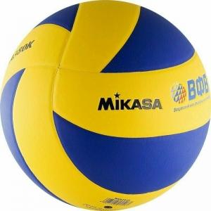 Мяч волейбольный  MIKASA MVA380K , р 5, синтетическая кожа (ПВХ), 8 пан, клееный, сине-желтый