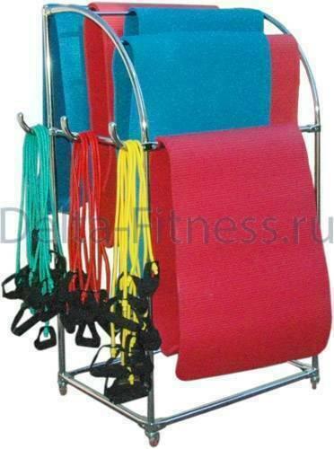 Мобильная стойка для ковриков и эспандеров