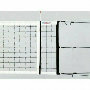 Сетка волейбольная  KV.REZAC офиц., арт.15015801, черн., DVV, 9.5х1м, нить 3мм ПП, кевлар. трос