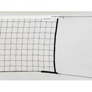 Сетка волейбольная  KV.REZAC трен., арт.15935097400, черн., 9.5х1м, нить 2мм ПП, стал. трос