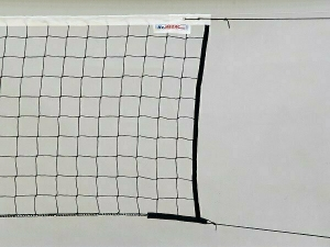 Сетка волейбольная  KV.REZAC трен., арт.15955431, черн., 9.5х1м, нить 3мм ПП, стал. трос