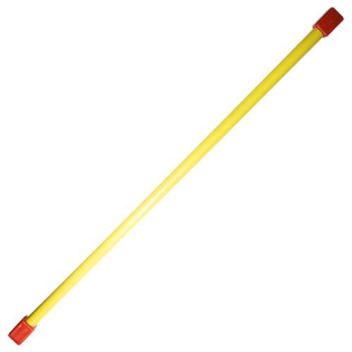 Гимнастическая палка (бодибар), арт.MR-B02, вес 2кг, дл. 120 см, стальная труба, желтый MADE IN RUSSIA
