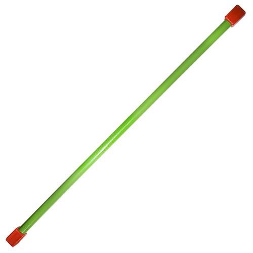 Гимнастическая палка (бодибар), арт.MR-B03, вес 3кг, дл. 120 см, стальная труба, зеленый MADE IN RUSSIA