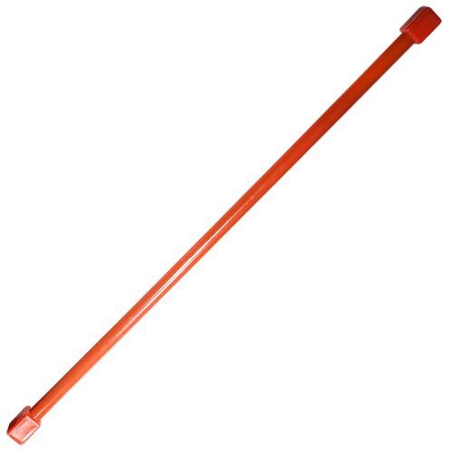 Гимнастическая палка (бодибар), арт.MR-B04, вес 4кг, дл. 120 см, стальная труба, красный MADE IN RUSSIA
