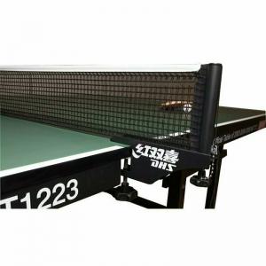 Сетка для настольного тенниса DHS P145 ITTF,в компл.с мет.стойками,ITTF Ap,измерит.высоты, черн
