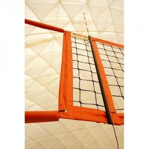 Сетка для пляжного волейбола  KV.REZAC арт.15095029011,8,5х1м,3 мм ПП,яч.10х10см,ОР.ленты ПЭ,кев.трос,чер