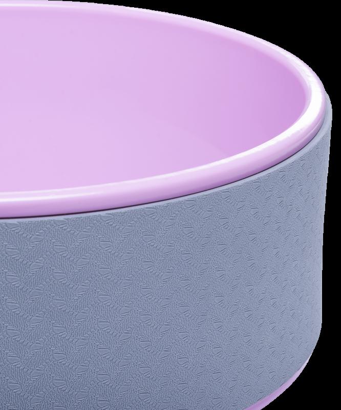 Колесо для йоги YW-101, 32 см, серо-розовый, Starfit