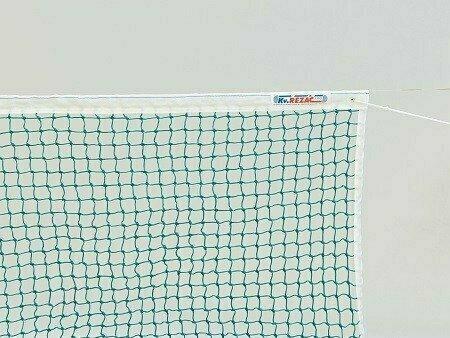 Сетка теннисн. KV.REZAC арт.21055864,нить 3 мм ПП,яч.45 мм,ЗЕЛ,стал.трос в ПВХ об,верх.лен.из ПЭ