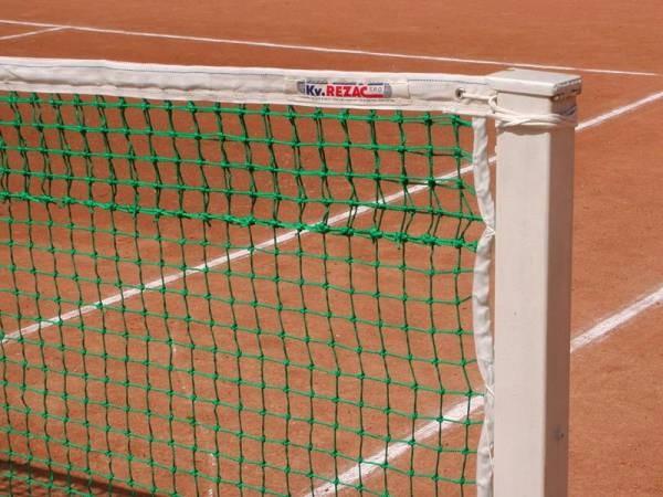 Сетка теннисн. KV.REZAC проф., арт.21005215, ЗЕЛ, нить 3мм ПП, двойн.сет.сверх,, стал. трос в ПВХ
