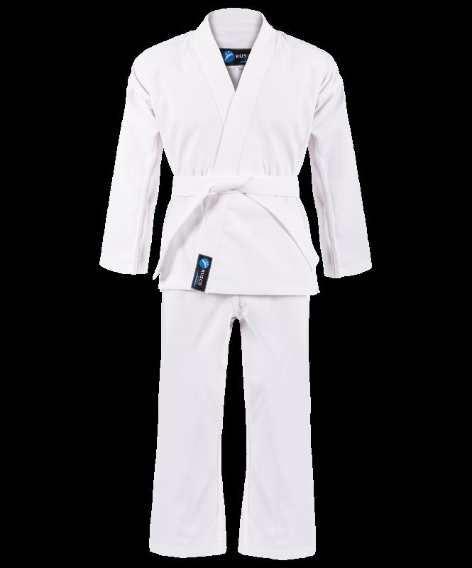 Кимоно для карате для начинающих, белый, р.00/120, Rusco