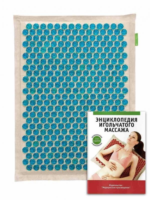 """Массажер """"Тибетский аппликатор"""" на мягкой подложке 41х60 см синий"""