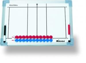 Тактическая доска для волейбола  MIKASA SB-V , 45х30см,двухстор,кольца для подвеш,маркеры 2-х цв.и фишки в комп