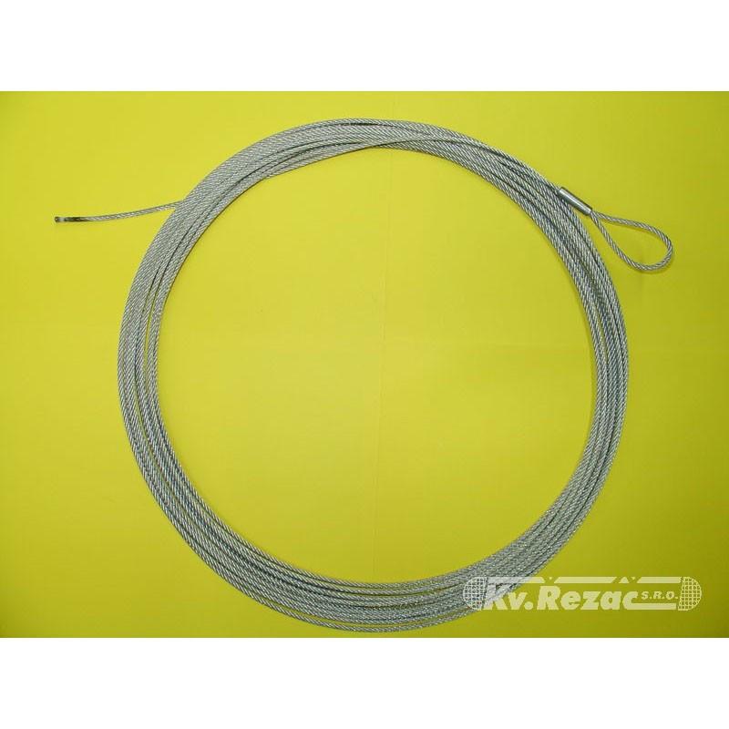 Трос стальной для волейбольной сетки  KV.REZAC , арт. 15085019, диам. 3,5 мм, дл. 12,5 м, с 1 конц. петлей