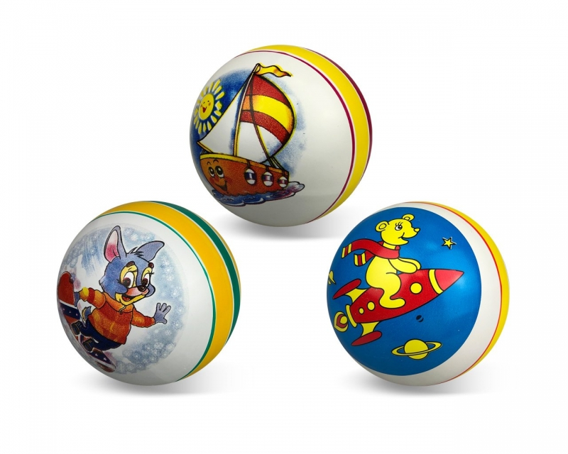 Мяч резиновый диаметр 150мм с рисунком