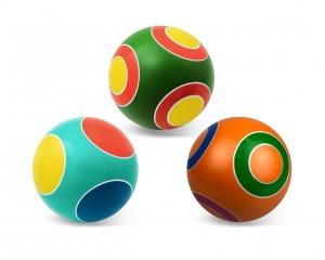 """Мяч резиновый диаметр 125мм серия """"Кружочки"""""""