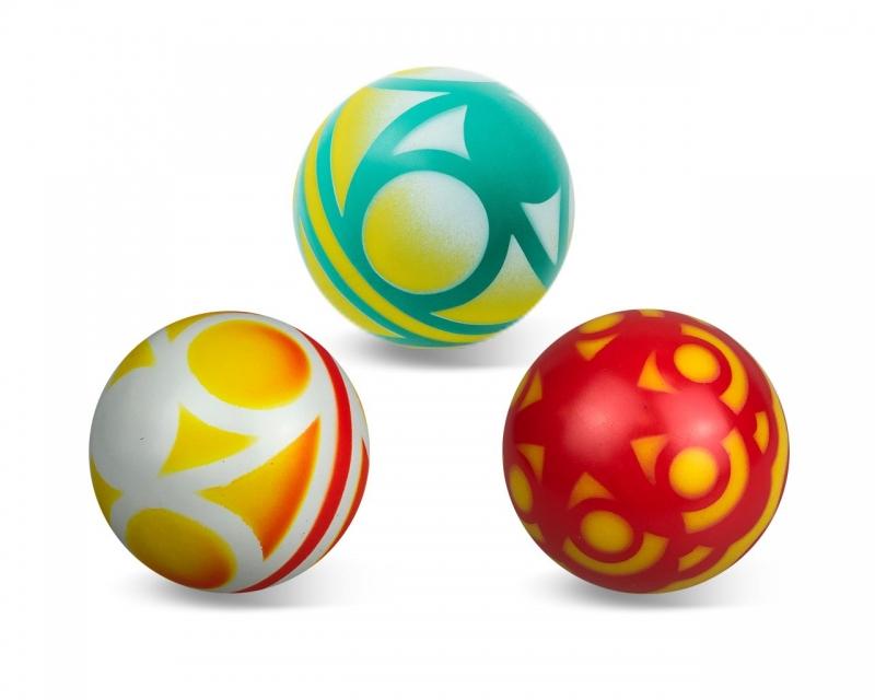 Мяч резиновый диаметр 100мм окрашенный по трафарету