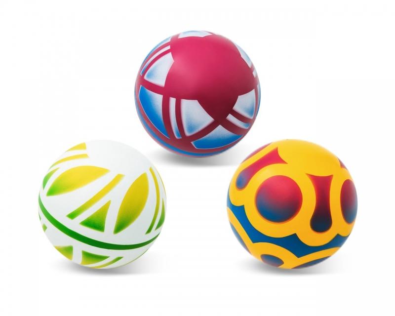 Мяч резиновый диаметр 125мм окрашенный по трафарету