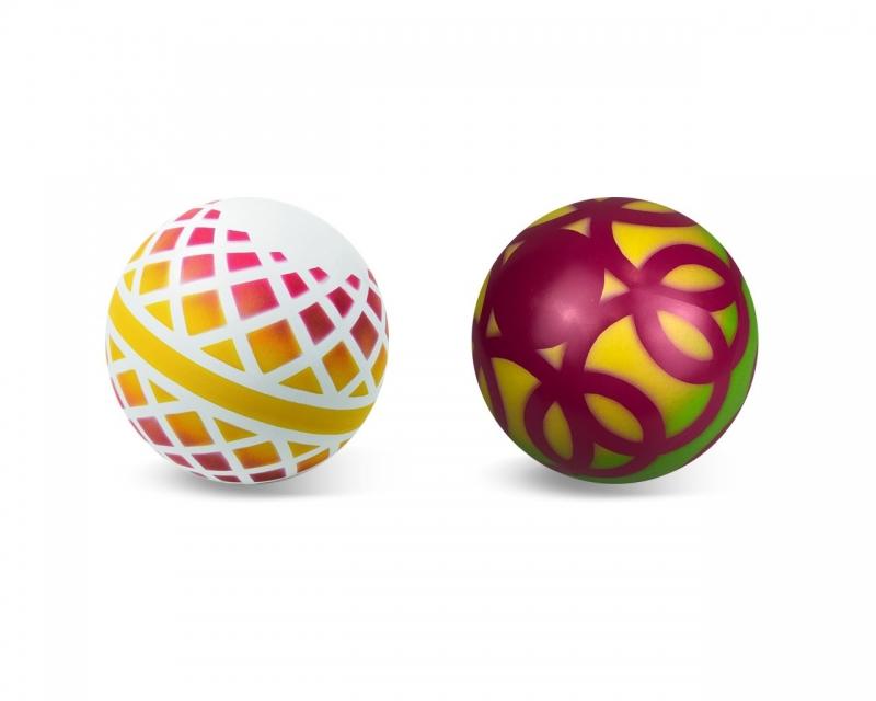Мяч резиновый диаметр 150мм окрашенный по трафарету