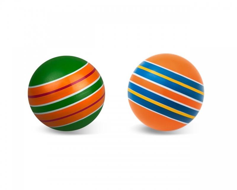"""Мяч резиновый диаметр 125мм серия """"Полосатики"""""""