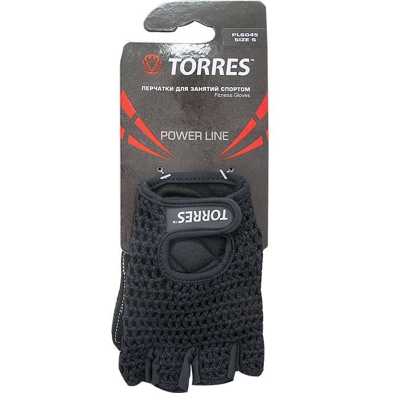 Перчатки для занятий спортом TORRES арт.PL6045L, р.L, хлопок, нат. замша, подбивка 6 мм, черные