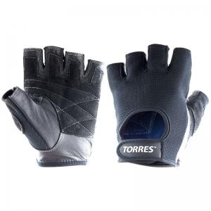 Перчатки для занятий спортом TORRES арт.PL6047L, р.L, нейлон, нат.замша и кожа, подбивка 3 мм, чер