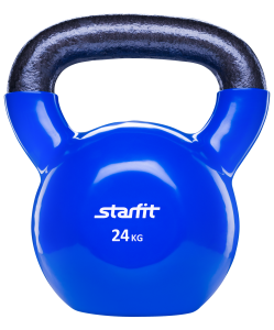 Гиря виниловая DB-401, темно-синяя, 24 кг, Starfit