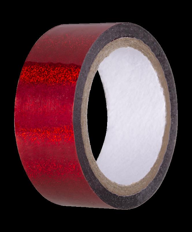 Скотч-лента для художественной гимнастики AGS-301 20 мм*15 м, красный, Amely