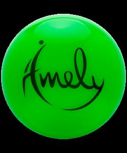 Мяч для художественной гимнастики AGB-301 15 см, зеленый, Amely